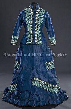 1870-75 silk day dress: