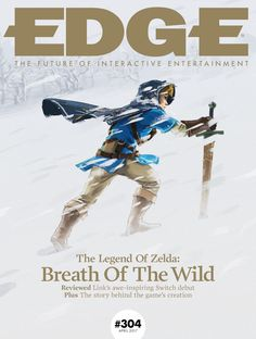 Legend of Zelda Breath of the Wild Edge magazine cover The Legend Of Zelda, Legend Of Zelda Breath, Gaming Magazines, Game Informer, Breath Of The Wild, Looks Cool, Breathe, Poster Prints, Posters