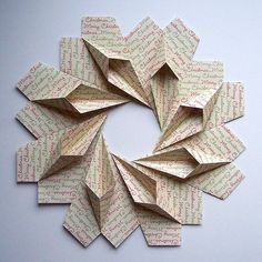 Origami, Merry Christmas Script Wreath | Flickr - Photo Sharing!