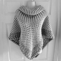Ravelry: Cowl Neck Poncho pattern by Simone Francis