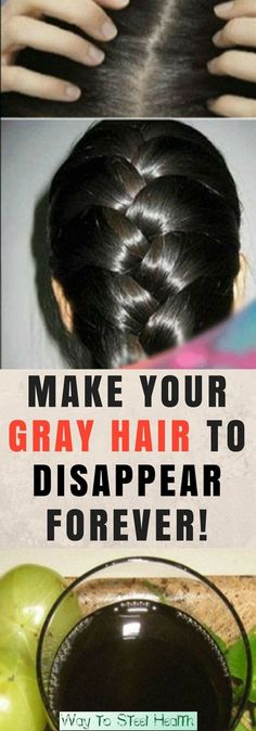 AMAZING! This Black Water Will Make Your Gray Hair To Disappear Forever!