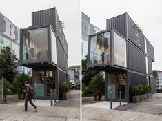 Una tienda hecha con contenedores y con un sistema de gestión de existencias innovador