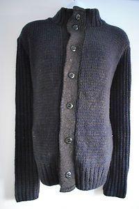 Mens Blue Button Cardigan £14.99