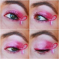 Neat idea for eyes and showing your breast cancer support!!