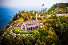 Cliffs at Glassy Mountain Chapel - Landrum, SC http://WeddingWoman.net...call Michelle Neilson at 864-516-1792