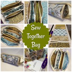 Tips & Tricks for the Sew Together Bag - Sew Much Moore Sewing Hacks, Sewing Tutorials, Sewing Projects, Patchwork Bags, Quilted Bag, Sew Together Bag, Homemade Bags, Bag Pattern Free, Craft Bags