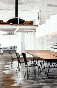 hex marble meets hardwood--this is incredible as far as floors go. Wow.