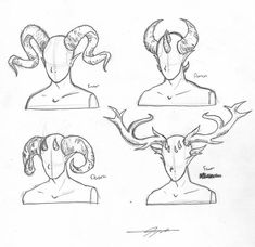 Horns on Humans Drawing Reference Drawing Techniques, Drawing Tips, Drawing Reference, Drawing Sketches, Cool Drawings, Demon Drawings, Drawing Ideas, Sketching, Flower Drawings
