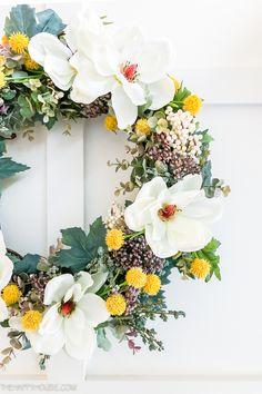 DIY All Season Greenery & Magnolia Wreath