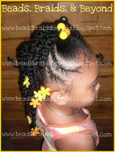 SIDE VIEW /LITTLE GIRL HAIRSTYLE / HAIR / LITTLE GIRLS / PLATS / BRAIDES / BOWS /