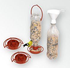 Gadjit Double Soda Bottle Jumbo Feeder Recycle Plastic Bottles