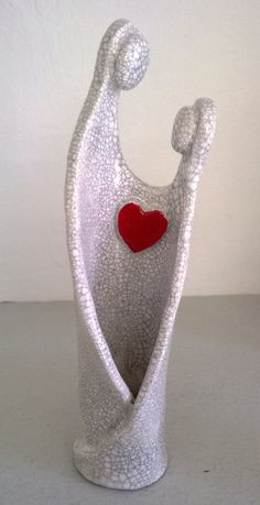 ceramic raku figure token of love by MartinONeillceramics on Etsy, £19.50