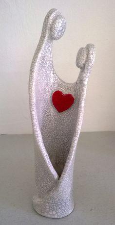 ceramic raku figure token of love by MartinONeillceramics on Etsy, £19.50