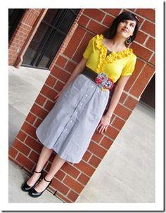 DIY gorgeous retro dress. Here I come thrift stores!