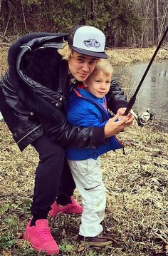 Fishing With His Youngest Half-brother Jaxon Bieber