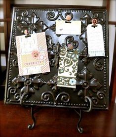 Easy Magnetic Clip Tutorial {love the idea of using magnetic clips on a tin ceiling tile!}#Repin By:Pinterest++ for iPad#