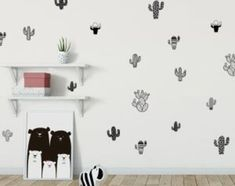 תוצאות חיפוש | מרמלדה מרקט Wall Sticker, Wall Decals, Cactus Stickers, Kidsroom, Nursery Decor, Scandinavian, Baby Kids, Minimalist, Wallpaper