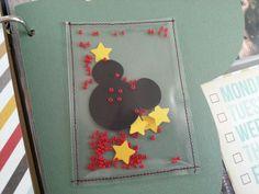 Disney project life confetti pocket made by J.K-D :-)