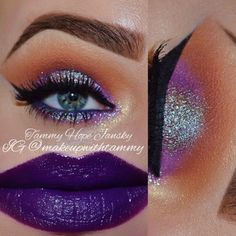 Love the eye-makeup ... cannot pull off purple lips ! Only Tay Fox can haha