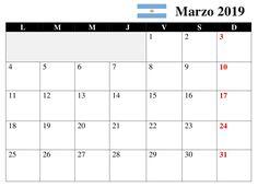 Calendario Marzo 2019 Argentina Accounting, March, Calendar, Argentina