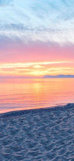 Lovely sunset from Crete