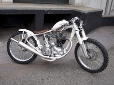 Royal Enfield White Custom