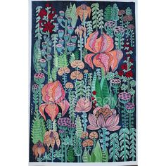 Anna Strøm, Original painting, painting, magic garden, magick hage, forest, blomster,flowers picture, flowers painting, modern interior, wall decor, modern wall decor, grey wall,black picture, contemporary art,art,kunst, canvas,acrylic, large painting, contemporary design,fantasy, fantasy garden, fantasy forest, illustration,gouache painting,gouache illustration,flowers painting Modern Wall Decor, Modern Art, Plant Illustration, Forest Illustration, Fantasy Art, Fantasy Forest, Flower Art, Art Flowers, Black Picture