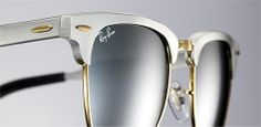 ray-ban silver aluminum frame clubmaster sunglasses