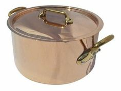 Mauviel M'Heritage M150B 6505.24 6-Quart Stockpot with Lid and Bronze Handles by Mauviel. $630.00. Hand washing recommended; limited lifetime warranty. Tight-fitting copper and stainless lid seals in flavors, moisture, and nutrients. 6-quart stockpot for soups, stocks, pasta sauces, and other recipes. Extra-thick 2.5 mm copper exterior and stainless interior heats quickly and evenly. Pair of durable bronze side handles with stainless rivets. Mauviel, a French family ...