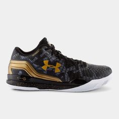 Under Armour Clutchfit Drive Low - Black/Metallic Gold
