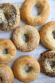 Making homemade bagels can't get any easier than this! With no boiling required, these bagels come together with less than 5 ingredients! # Food and Drink homemade Ridiculously Easy Homemade Bagels How To Make Bagels, Food To Make, Easy Bagel Recipe, Homemade Bagels, Homemade Biscuits, Homemade Recipe, Saveur, The Best, Bread Recipes