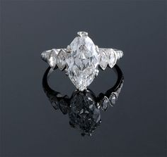 Art Deco Marquise Diamond Ring ~ M.S. Rau Antiques