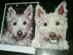Pet Portrait out of torn paper!