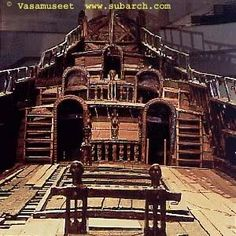 old ship deck The Vasa in Stockholm Ship Figurehead, Old Sailing Ships, Walking The Plank, Wooden Ship, Sail Away, Wooden Boats, Tall Ships, Boat Building, Model Ships