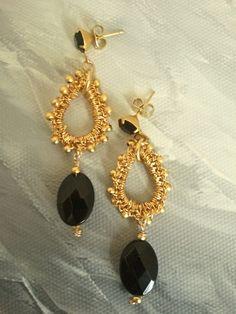 #gold crochet jewelry earrings