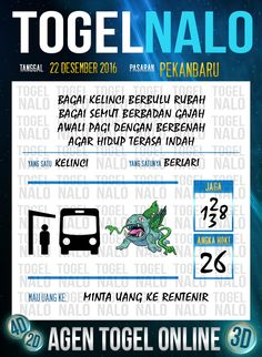 4D Jitu Togel Wap Online Live Draw 4D TogelNalo Pekanbaru 22 Desember 2016