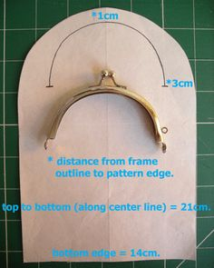 Curved purse frames de-mystified (aka. Dottie Glasses Case) Tutorial--Plus lots of freebie patterns to download for bags & purses
