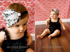 Feather Headband Black and White by Charming Necessities