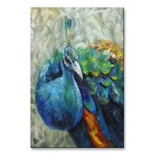 'Peacock' by Rosilyn Young Painting Print Plaque