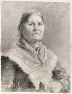 Pekka Halonen (1865-1933) Vanha nainen / The old woman 1890 - Finland