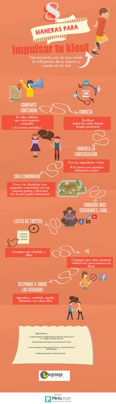 '8 maneras de potenciar tu Klout #infografia #infographic #socialmedia