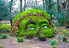 The Head At The Lost garden of Heligan #Visit Britain #YouAreInvited