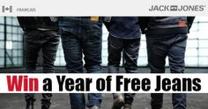Win a Year of Free Jeans
