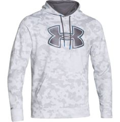 Under Armour Men's Storm Armour Fleece Printed Big Logo Hoodie - Dick's Sporting Goods white/medium