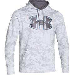 Under Armour Men's Storm Armour Fleece Printed Big Logo Hoodie - Dick's Sporting Goods white/medium