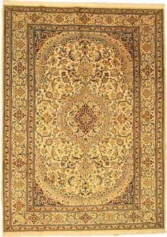 Ivory 8' 1 x 11' 2 Nain Rug | Persian Rugs | eSaleRugs