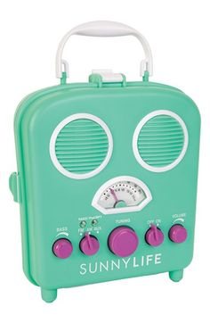 Sunnylife+'Beach+Sounds'+Portable+Water+Resistant+Speaker+&+Radio+available+at+#Nordstrom