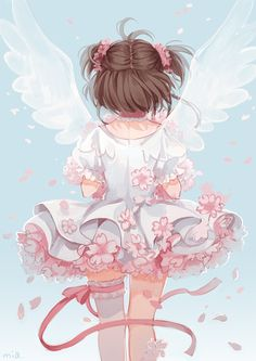 sakura card captors Anime girl illustration art