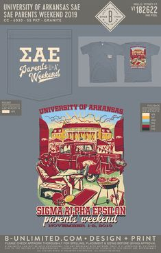 University of Arkansas Sigma Alpha Epsilon Parents Weekend Shirt | Fraternity Event | Greek Event #sigmaalphaepsilon #sae #uofa