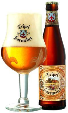 """Tripel Karmeliet (holandés para la """"Triple carmelita"""") es una de oro belga cerveza con alta de alcohol en volumen (8,4%), elaborada por Brouwerij Bosteels en Buggenhout , Bélgica. Fue elaborada por primera vez en 1996 y utiliza tres cereales: trigo , avena y cebada ."""